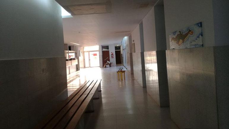Los pasillos del Centro de Salud Doctor Julio Maiztegui.