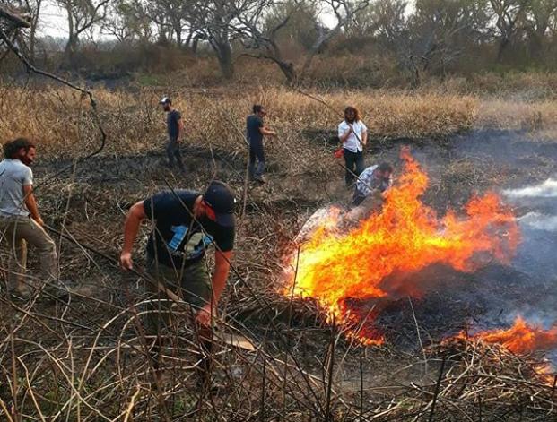 Imágenes de la ONG Acción Ciudadana Contra el Fuego.