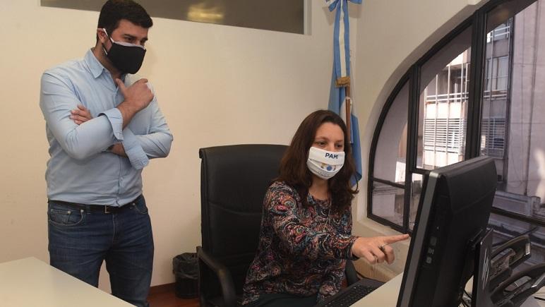 Marcos Cleri, junto a Yanina Muratore.