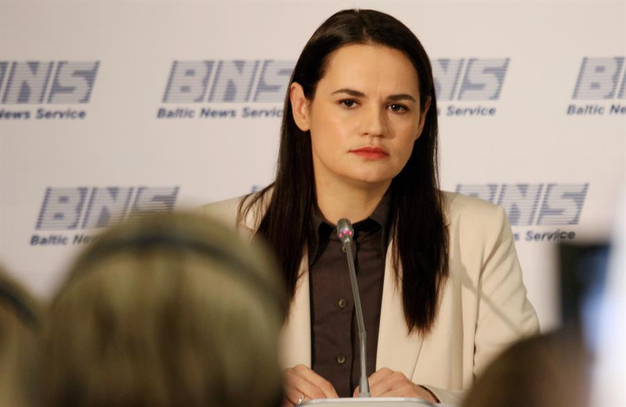 Svetlana Tijanovskaya, la candidata que quedó segunda (EFE)