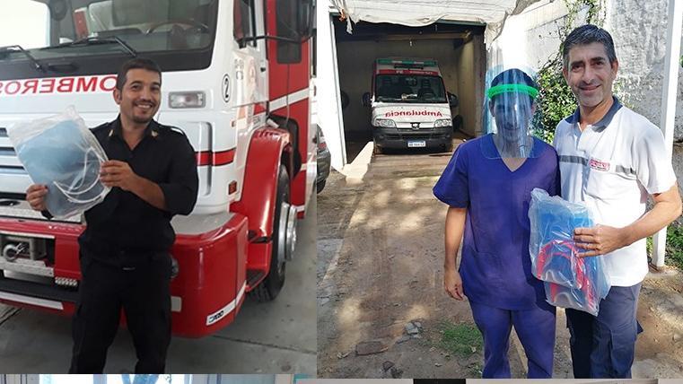 .Pandemia solidaria: donaron más de 2500 máscaras faciales