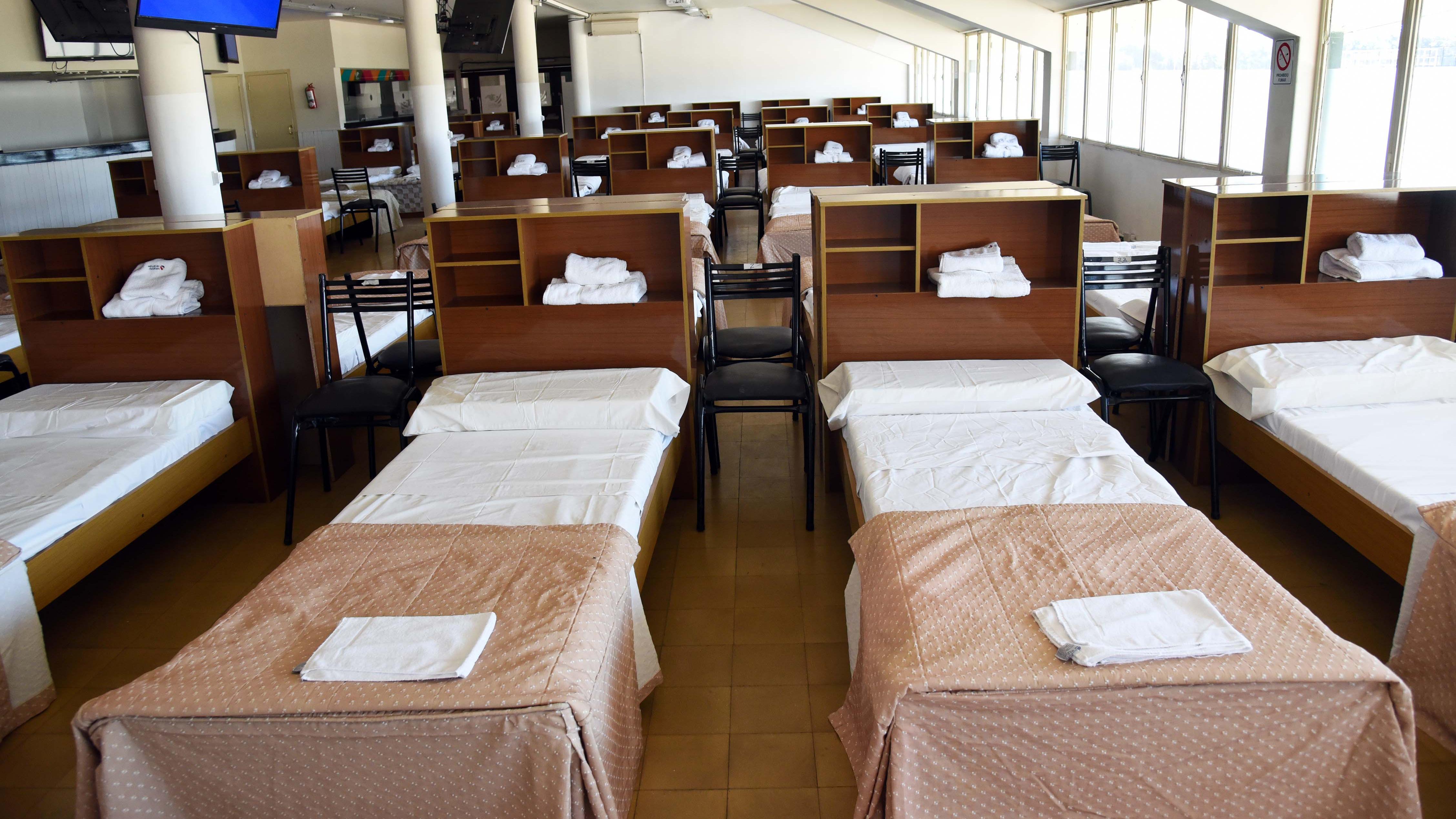 Los clubes donaron 214 camas, entre simples y cuchetas.