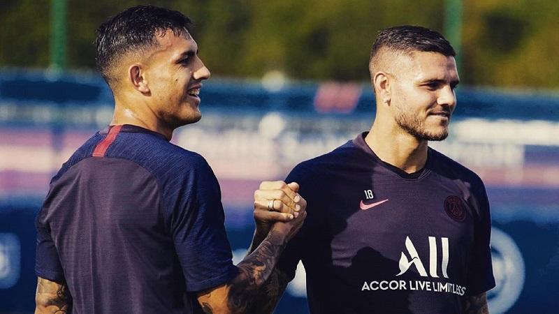 Paredes e Icardi, dos de los argentinos en el club francés.