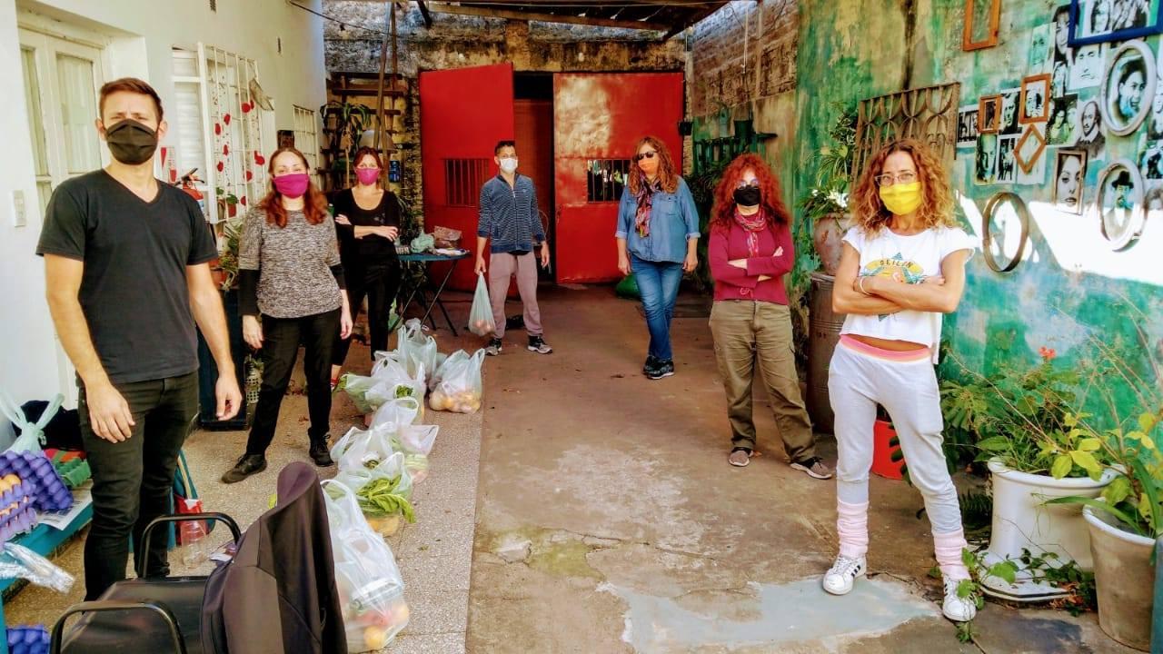 Integrantes del colectivo Artistas en Red