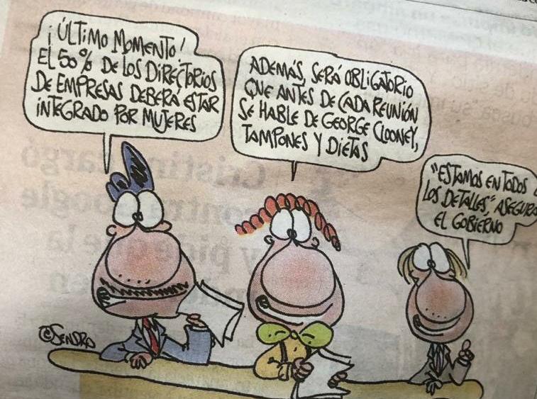 El chiste publicado en Clarín