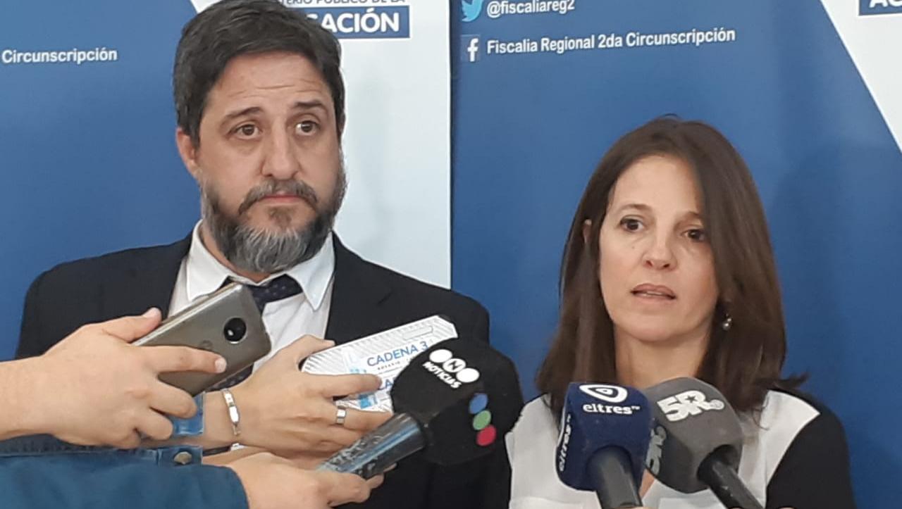 Iribarren y Matías Edery, dos de los fiscales que acusaron a Serjal.