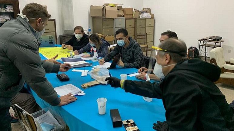 El Comité de Emergencia de San José en acción.