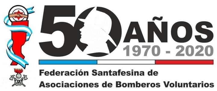 La Federación Santafesina de Bomberos Voluntarios celebra su 50º aniversario.