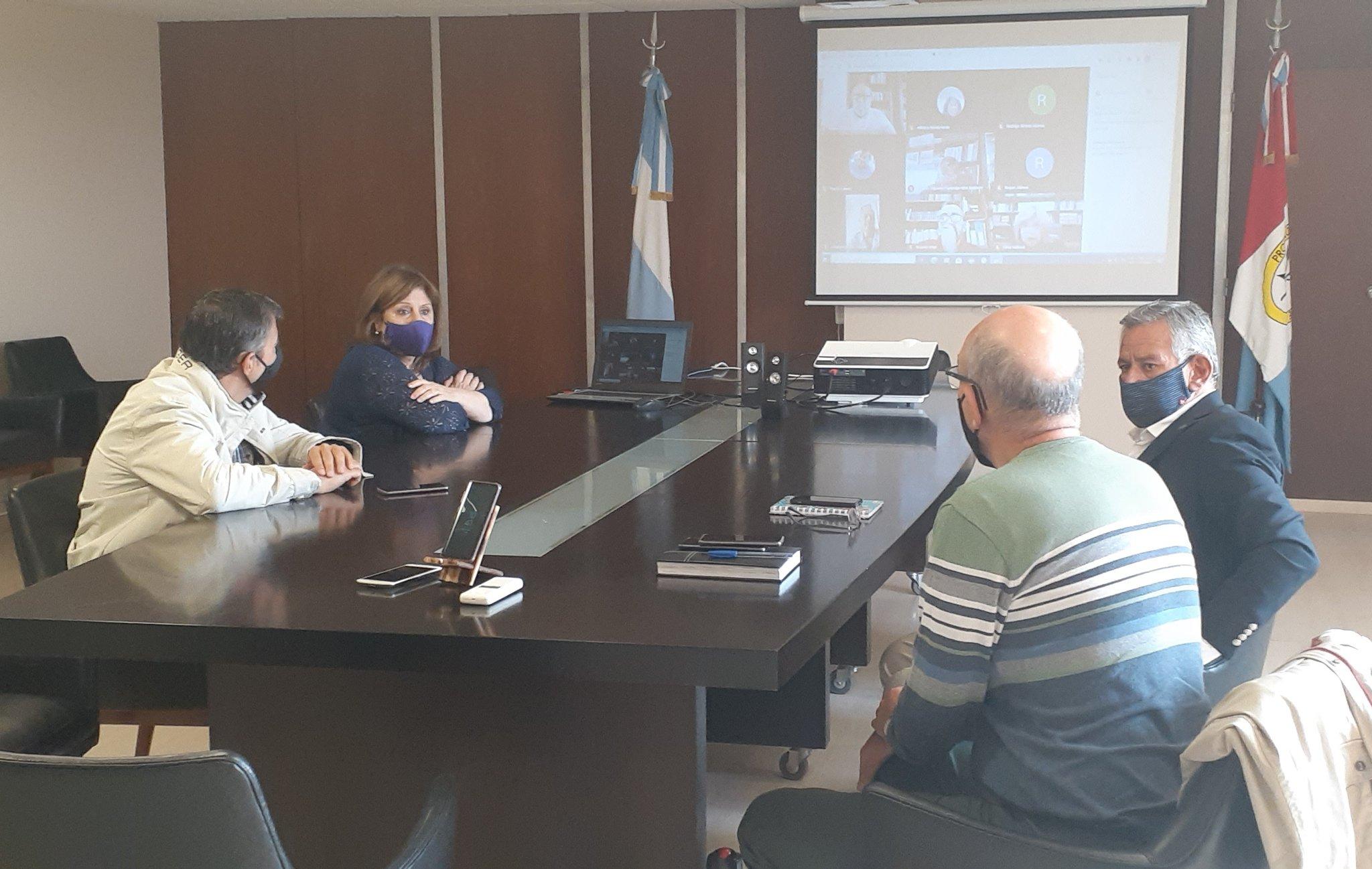 Cantero estuvo al mando de la reunión paritaria realizada por Zoom.