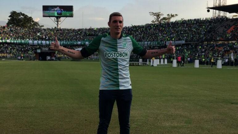 La última imagen de Armani en Colombia. Ahora, jugará en River Plate.