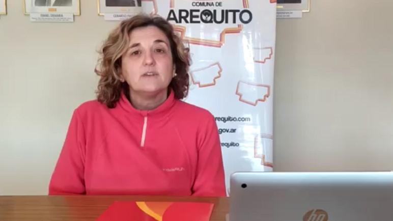 Laura Larrambebere, secretaria de Salud de Arequito.