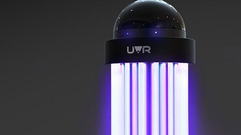Las lámparas proyectan radiación UV-C.