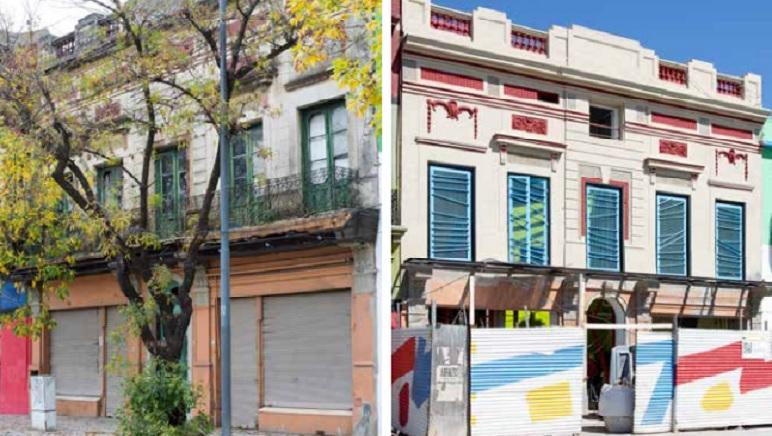 Antes y después, la fachada del edificio que pensó Clorindo Testa.