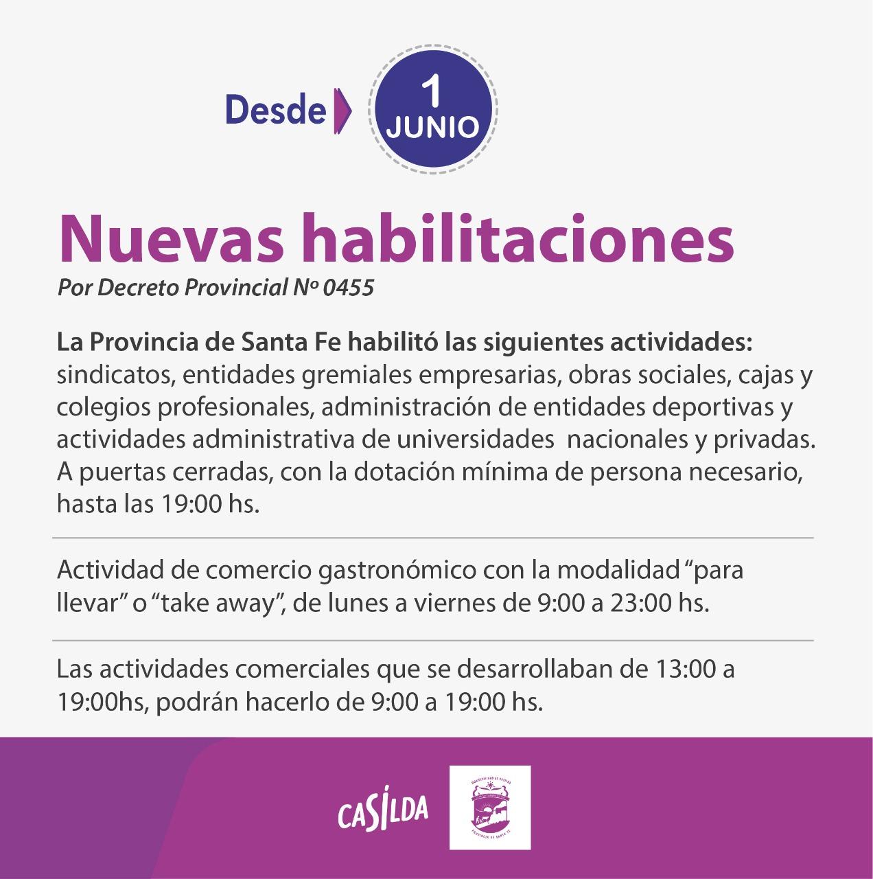 El flyer difundido por la Municipalidad de Casilda.