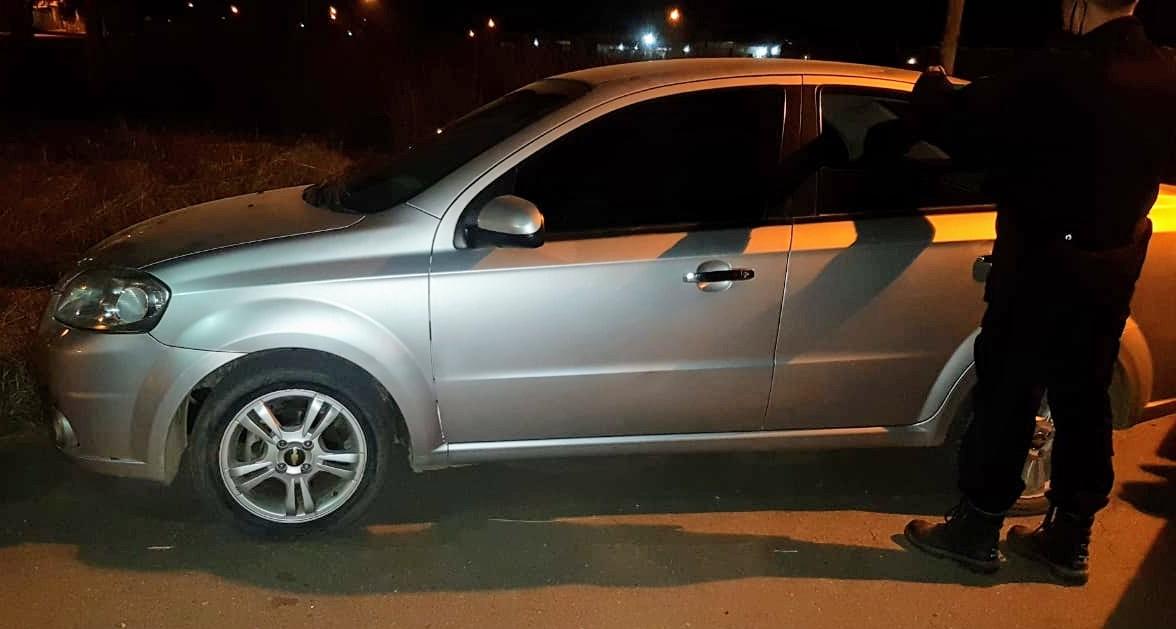Vehículo secuestrado tras el enfrentamiento.