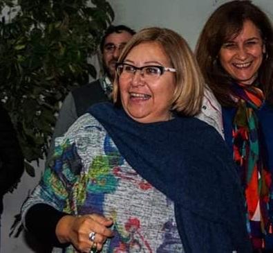 La profe Alejandra Bustos, directora de la Escuela Normal.
