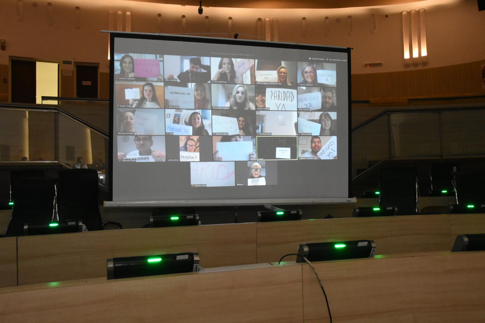 El Concejo volvió a sesionar de forma virtual este jueves.