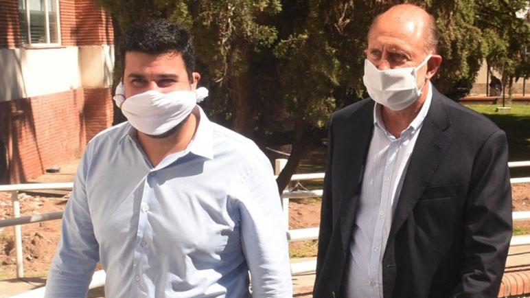 Marcos Cleri, junto al gobernado Omar Perotti.