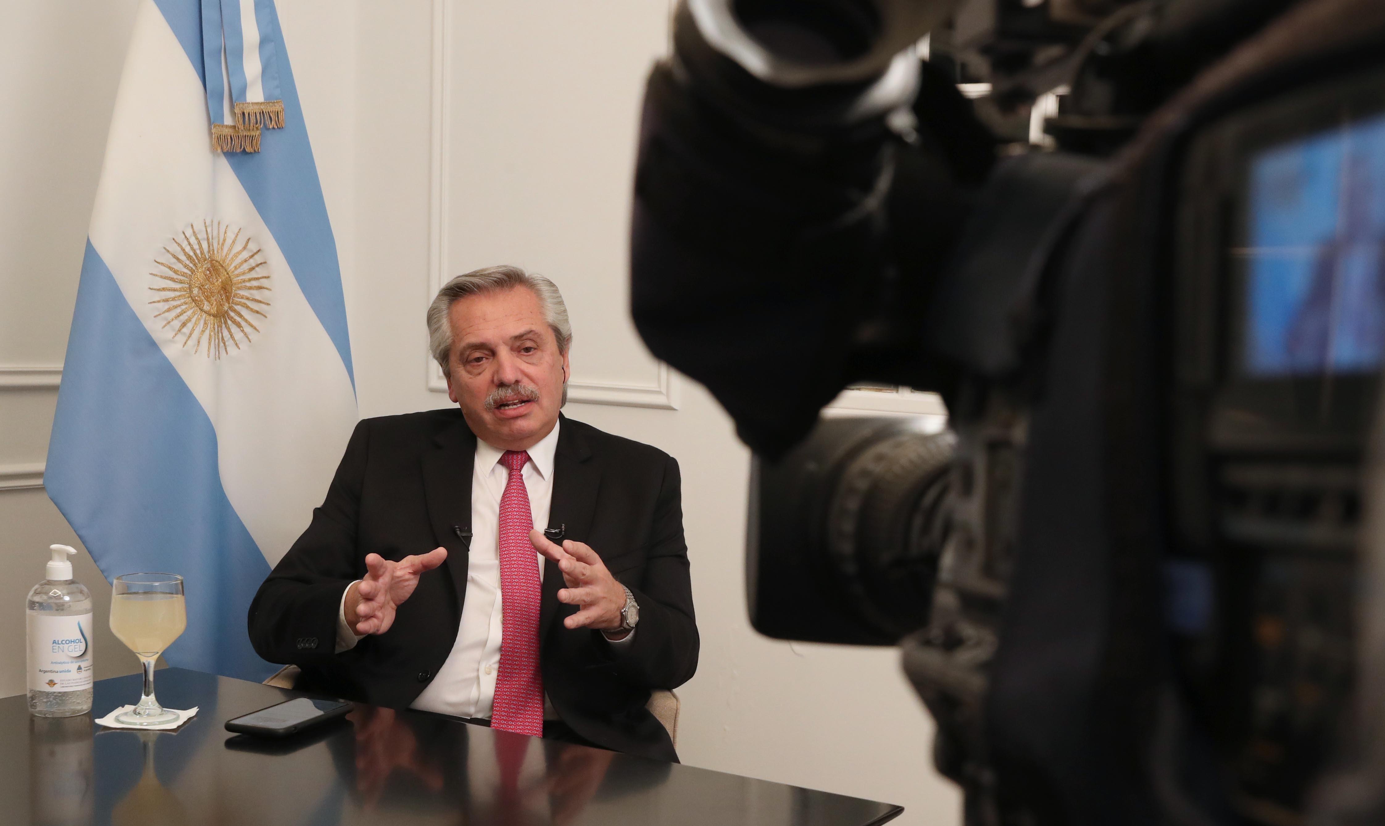El presidente dio una entrevista desde Olivos (Télam)