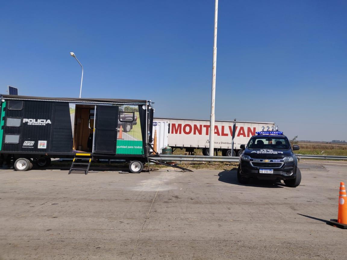 Rareza: el único control caminero desde el oeste provincial hacia Buenos Aires.
