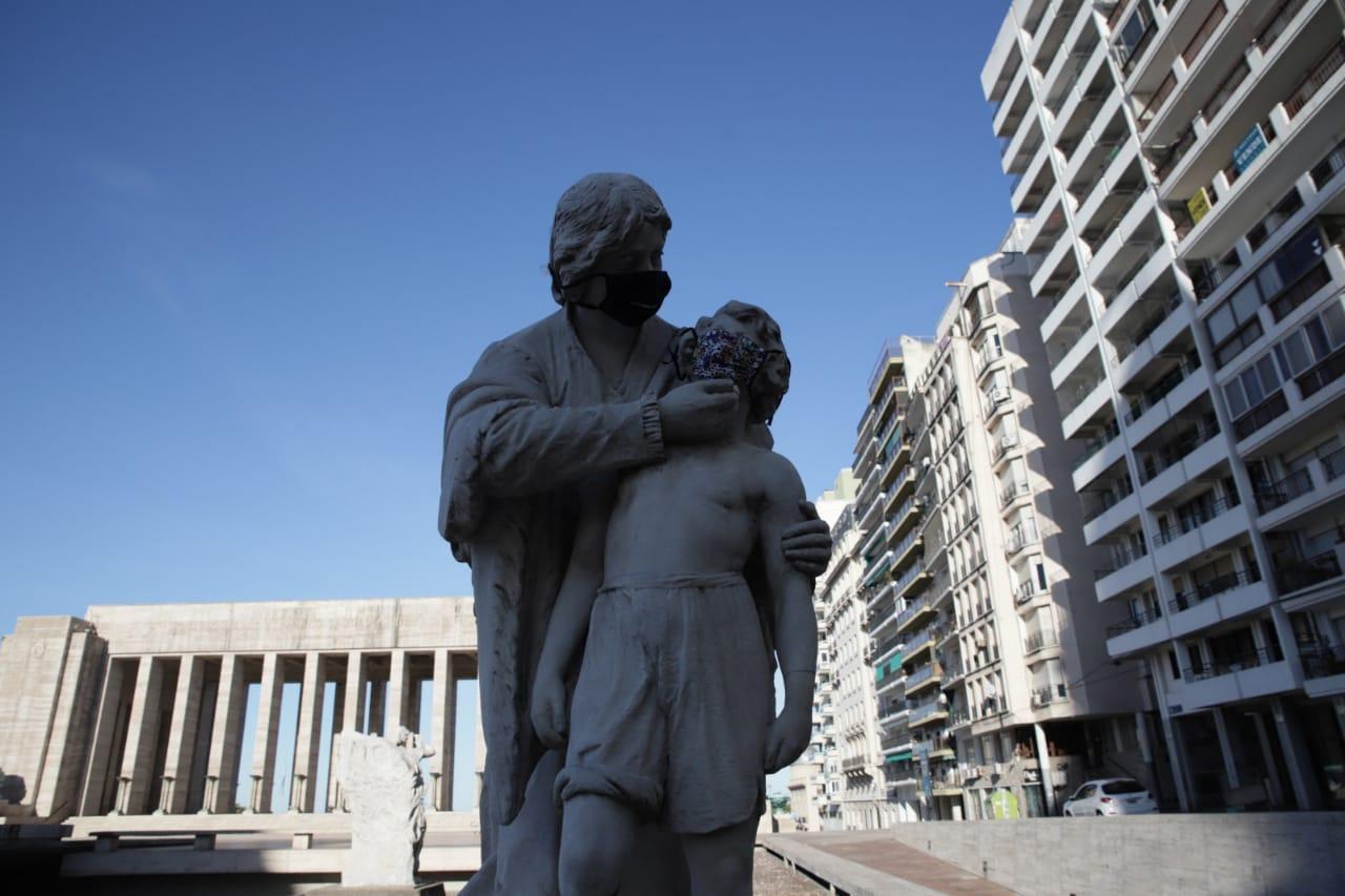 Esculturas en el Paseo Juramento de Lola Mora (Guillermo Turrín - MR)