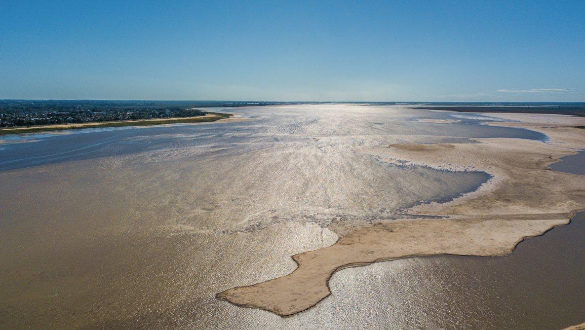 El río Paraná y una bajante histórica (Foto: UNL)