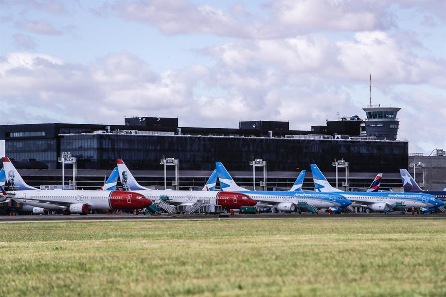 Nula actividad aérea en aeropuerto de Buenos Aires (EFE)