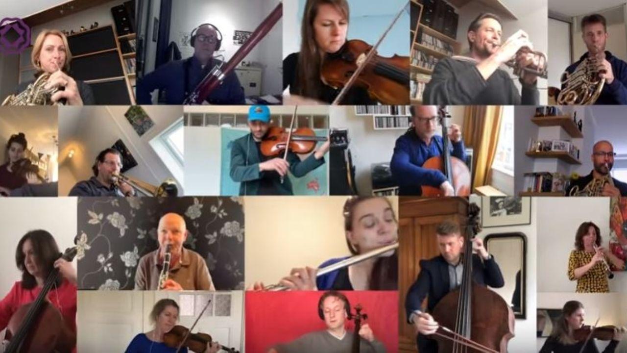 Cada músico desde su casa, unidos por Beethoven.
