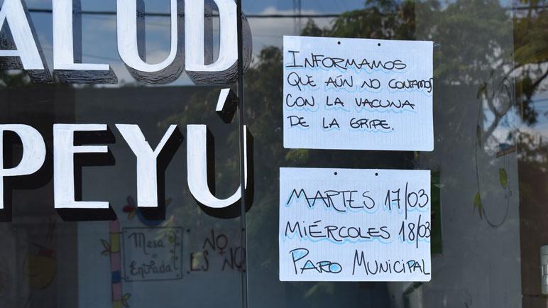 El mensaje frente a Barracas-Yapeyú.