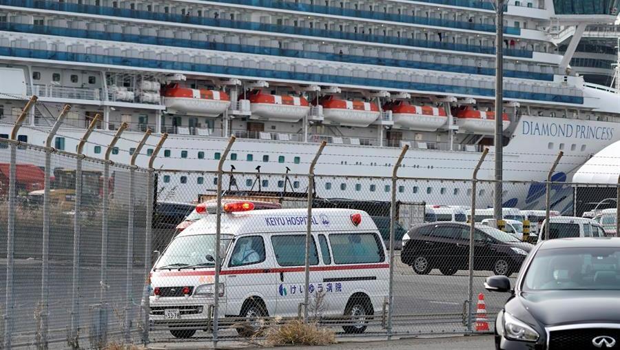 El crucero está amarrado en Japón (EFE)