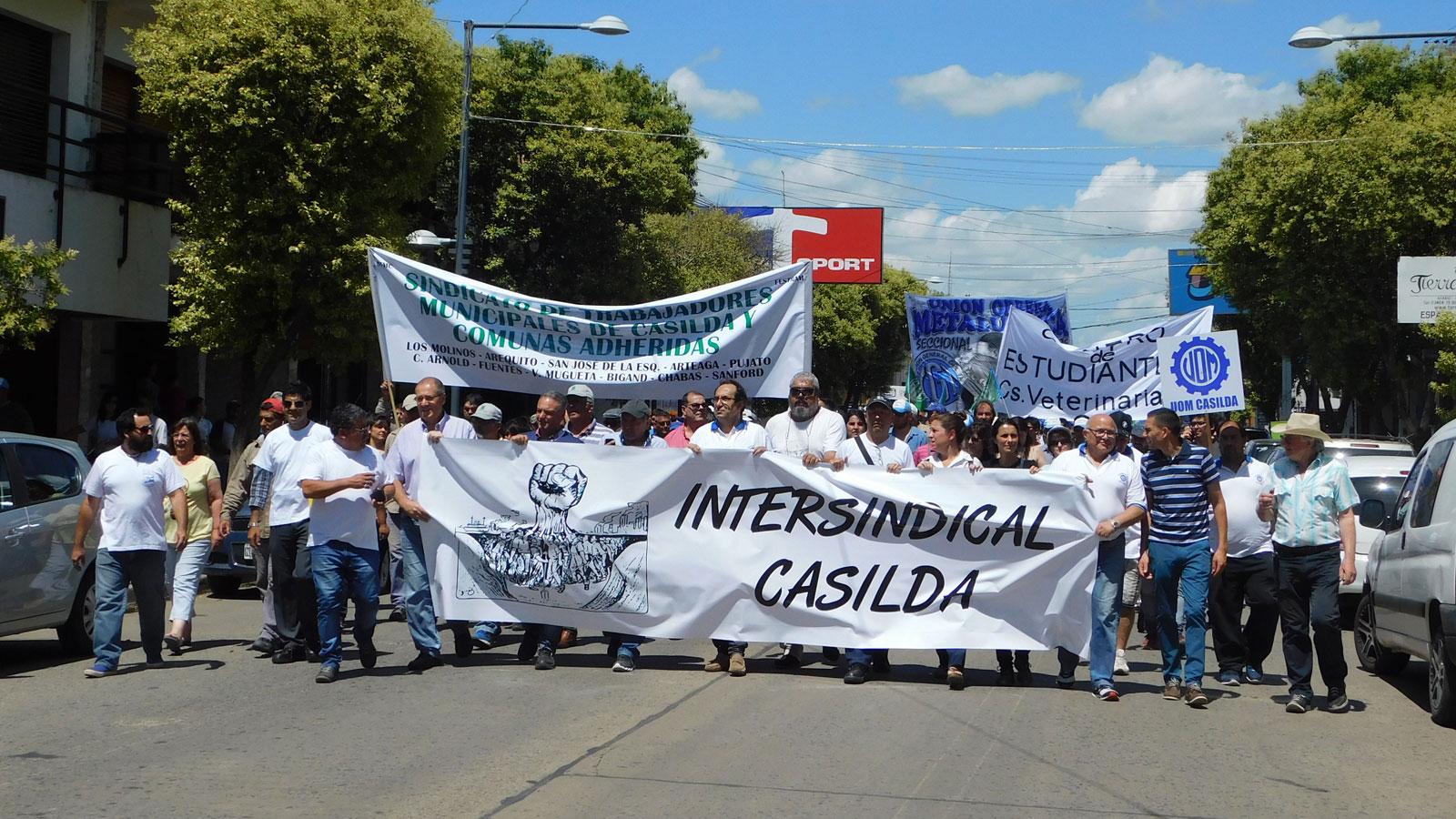 Los trabajadores de Casilda volverán a desfilar por la calle Buenos Aires.