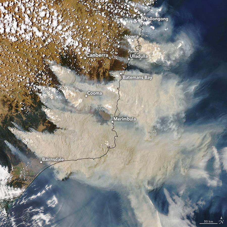 Imagen satelital del sudeste del país. (EFE)