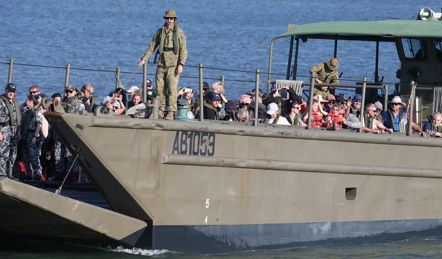 Evacuaciones de isleños en el sudeste australiano.