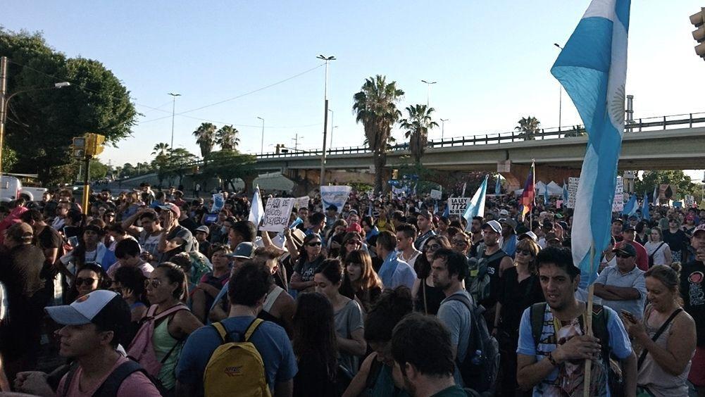 Una movilización sin precedentes en Mendoza (Foto de Télam)