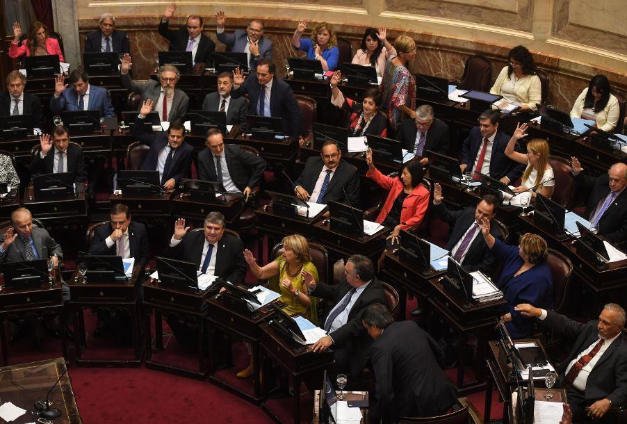 El Senado terminó de sesionar de madrugada (Télam)