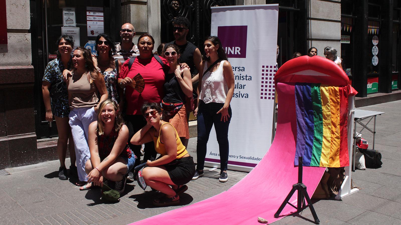 Les integrantes del área de género y sexualidades de la UNR