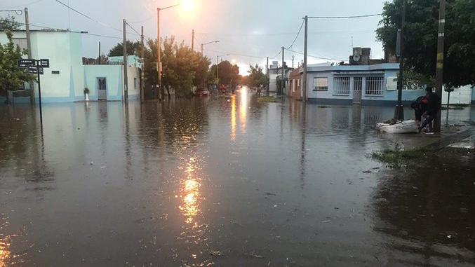 El temporal complicó a Santa Fe y otras localidades.