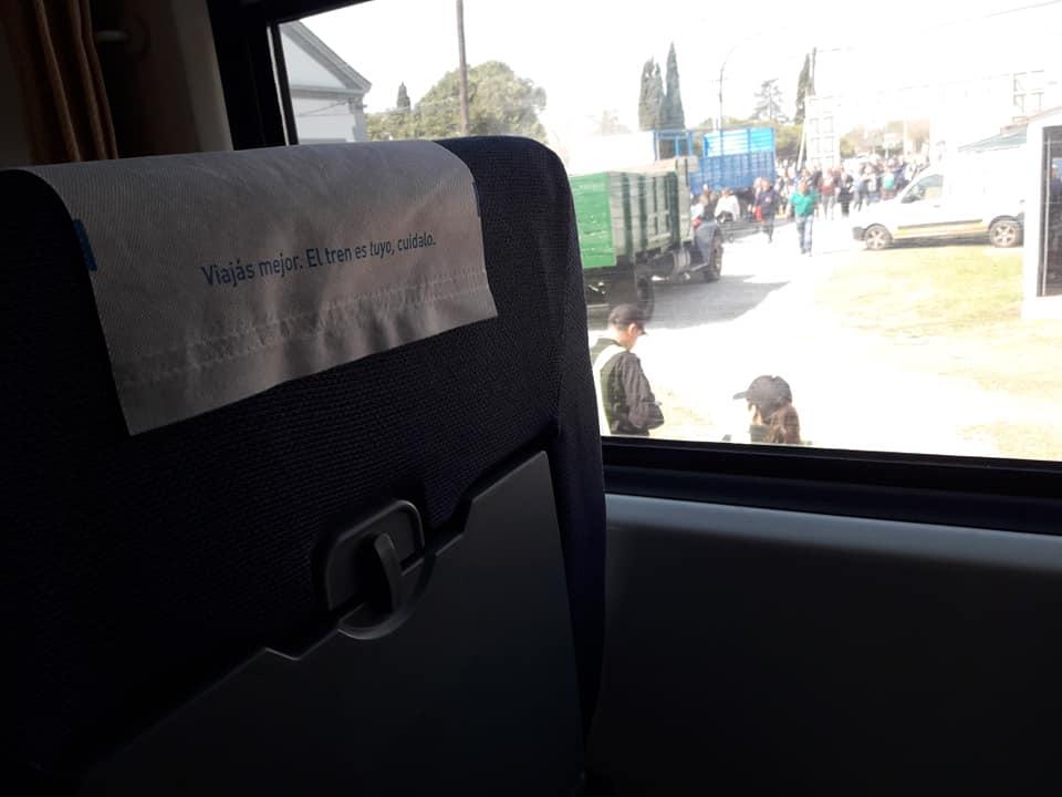 Previo a Casilda, el tren estuvo en Pujato.