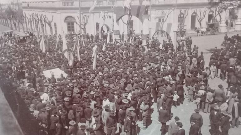 Fiesta en la plaza el 29 de septiembre de 1907.