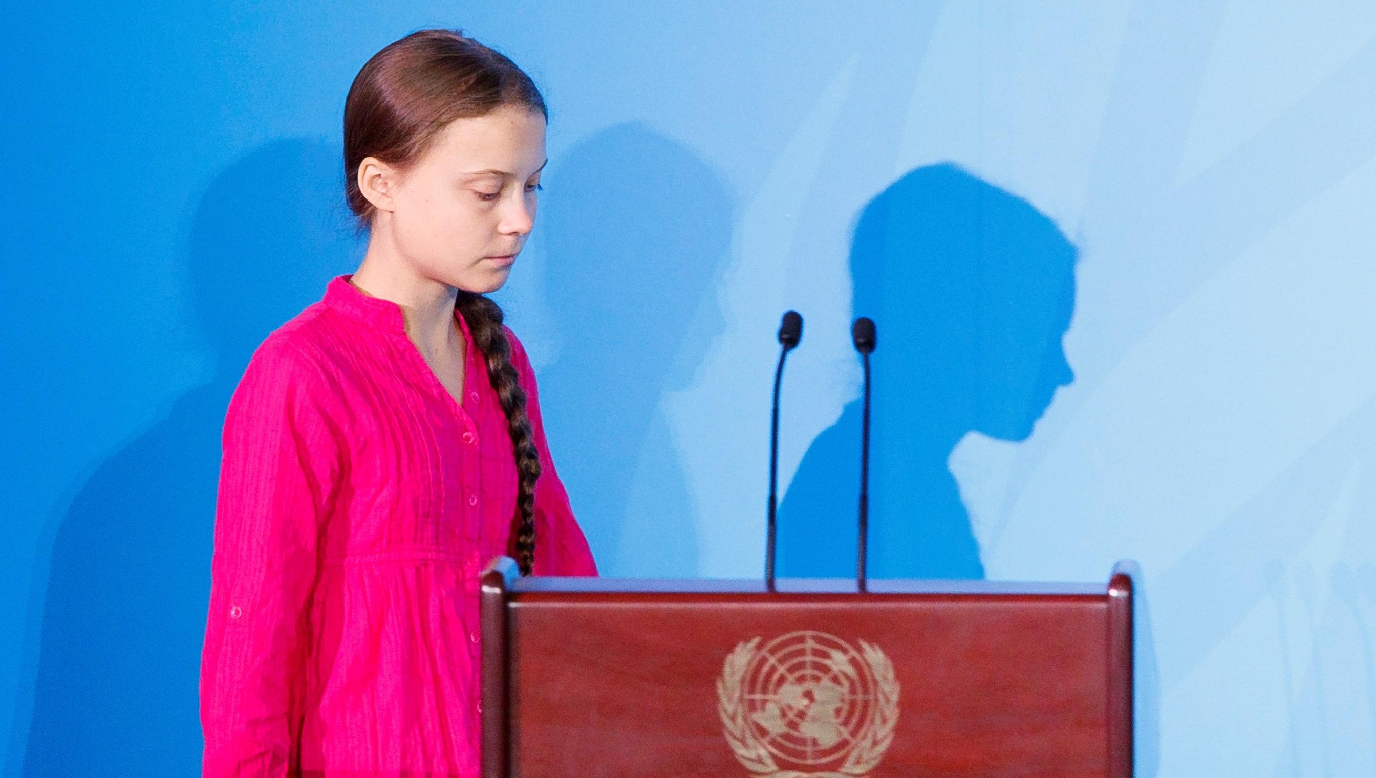La sueca de 16 años mostró su indignación en la ONU.