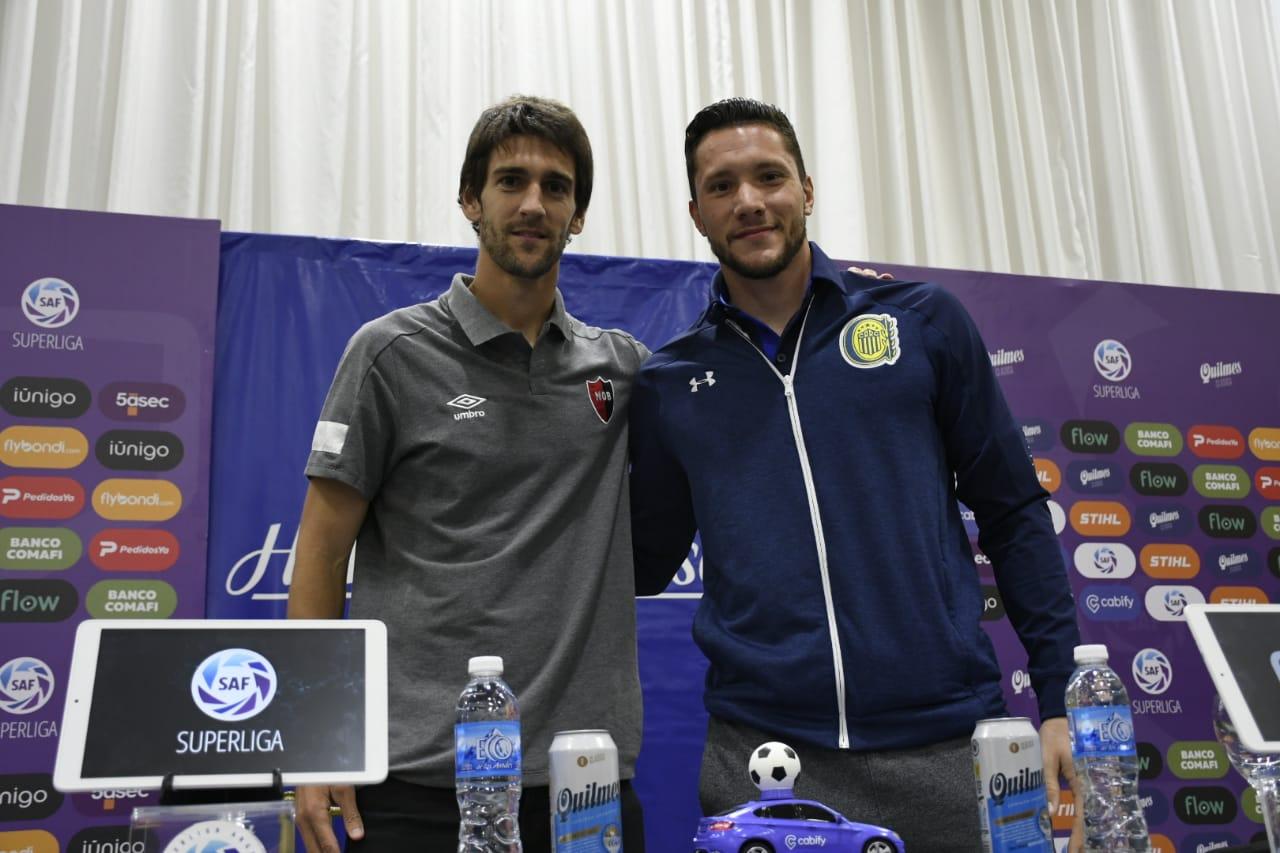 Albertengo y Ledesma, juntos en conferencia de prensa.