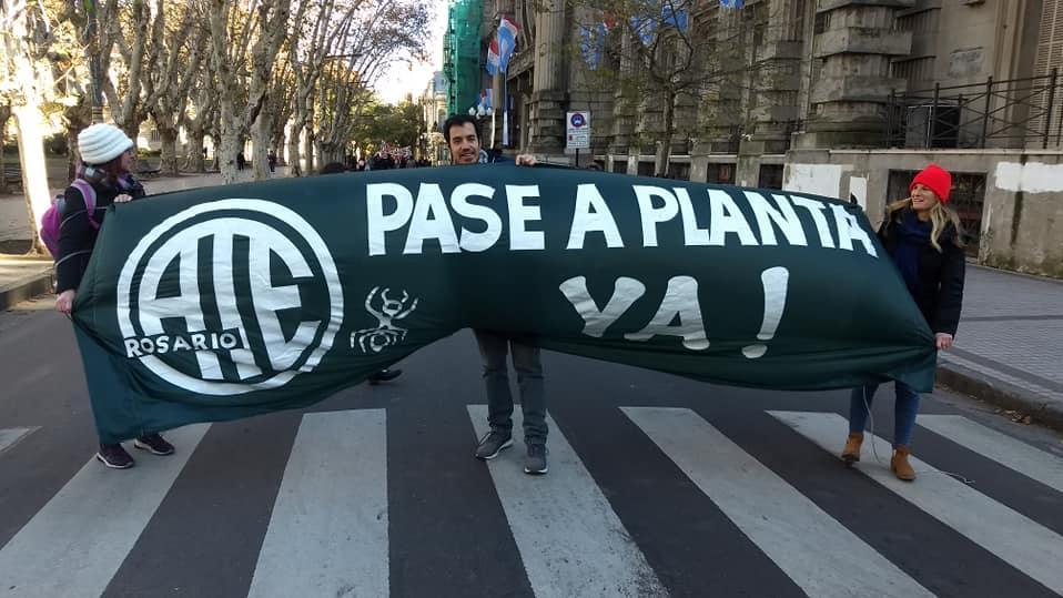 El aporte de los trabajadores de ATE es fundamental para el Ipec (Foto: Facebook Ate Rosario)