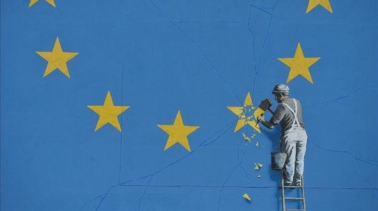 Borraron un mural del artista Banksy