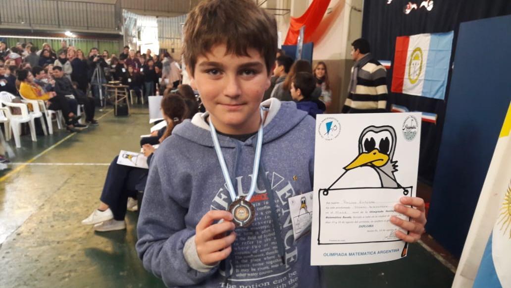 Ramiro quedó tercero en su nivel.