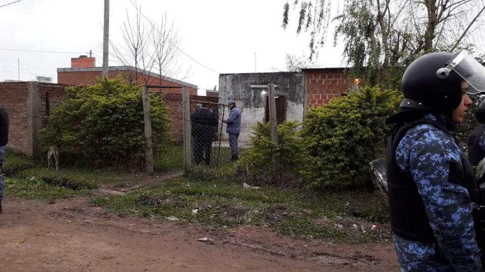 La casa del policía donde se desencadenó la tragedia.