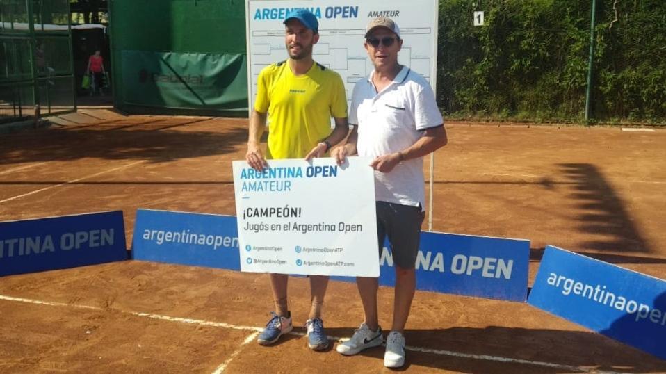 Matías Capella rosarino ganador Argentina Open Amateur junto a Martín Jaite.