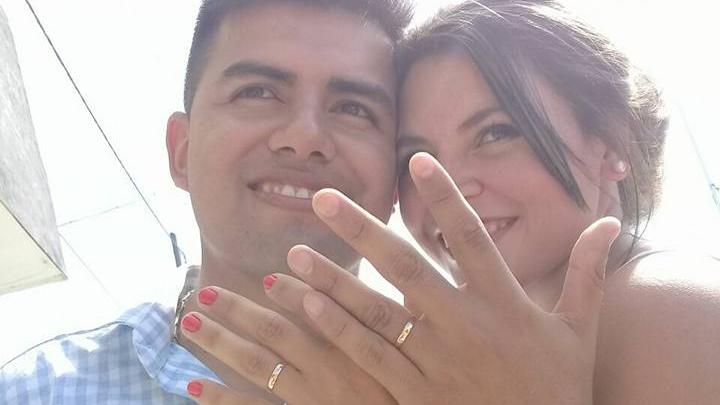 Barrios y Quiroz, al casarse en enero del año pasado.
