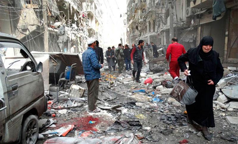 El gobierno sirio no repara en población civil para atacar distritos rebeldes.