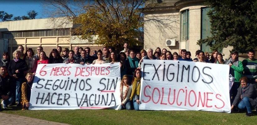 Trabajadores del Instituto Maiztegui vienen denunciando los efectos del recorte presupuestario.