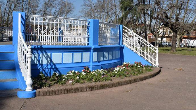 Los chicos de Rotary y Rotaract eligieron la Plaza de la Rotonda.